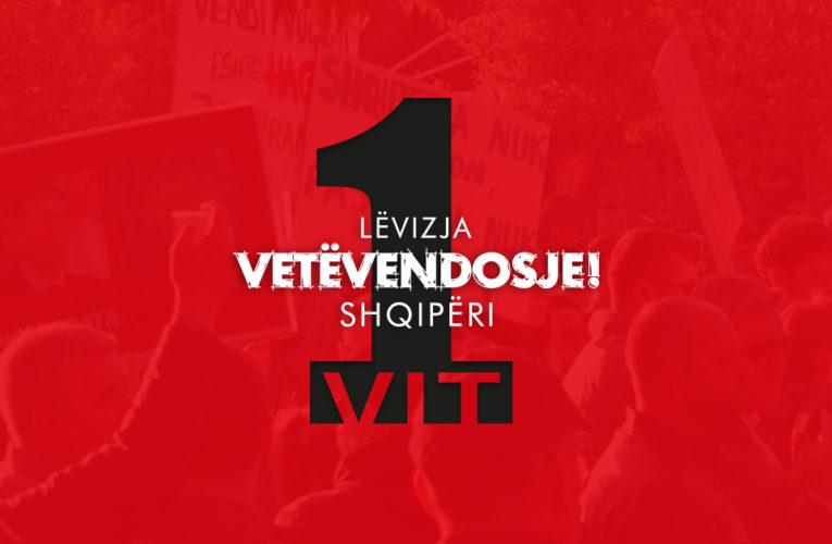 1 vit Lëvizja VETËVENDOSJE! në Shqipëri